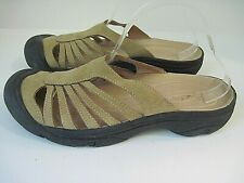 Keen Womens Brown Nubuck Leather Slide Sandals Size 9.5 US, UK 7, EU 40