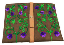Ipad Suede Sleeve, handmade tailored flowers, available in different colours.