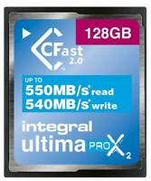 Ultima Pro X2 CompactFlash 2.0 Memory Card, 128GB - INTEGRAL