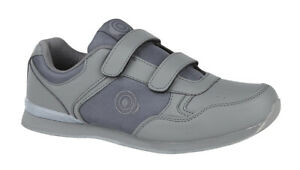 Mens Wide Fitting Bowling Shoes Grey Indoor Grass 3 4 5 6 7 8 9 10 11 12