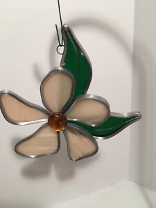 VINTAGE TIFFANY STAINED GLASS COLLECTORS SOCIETY/COA/IOB SPRING BLOSSOM