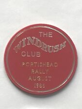 caravan plastic plaque - the windrush club portishead rally august 1986