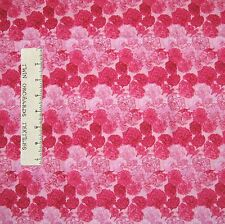 """Floral Fabric - Flowers of the Month Carnation Allover Pinnk - Northcott 2 x 17"""""""