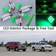 16PCS Green LED Interior Lights Package kit Fit 1995-1999 Chevy/GMC Suburban J1