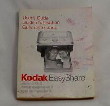 Kodak Easyshare Drucker Dock 3 User's Gebrauchsanweisung Handbuch 9111003