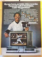 REGGIE JACKSON NEW YORK YANKEES PANASONIC MAGAZINE Ad PAGE CLIPPING