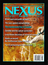 NEXUS New Times 02-03 2016 THE USE OF DRONES Animal Pharmacy FEAR OF MEASLES New