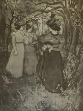Menuet d'automne, lithographie de Mauel Robbe, L'estampe originale, 1898
