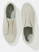 New J Slides Louisa Light Grey Nubuck Sneaker. Size 7.5. $160