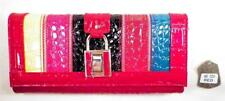 Bottari Clutch Bag Purse Leather Red & Multi Color Front New without Tags