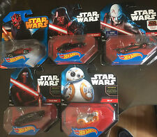 Star Wars Hot Wheels Lot of 5 Die-cast New