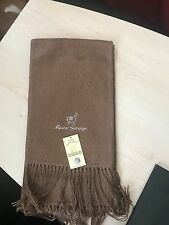 Luxury camel brown Alpaca Wool Scarf  Unisex Gift