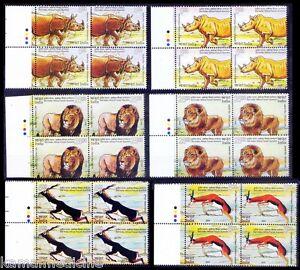 India Africa 2015 MNH 6v Blk colour Guide, Wild Animals Rhino Lion Black Buck