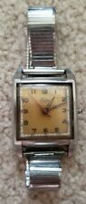 Vintage Croton Aquamatic Unique Case Forstner Komfit Square Radium Dial - as is