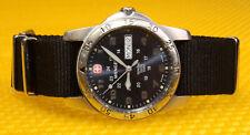 """Men's WENGER """"096.0935"""" Quartz Watch Nato-Strap SWISS MADE 100M <VGU>"""