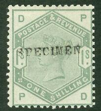 SG 196S 1 / - Opaco di colore verde. Overprinted campione. un Pristine molto leggermente MONTATO...