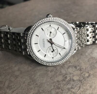 Fossil Tailor ES4054 Women's Watch Crystal Accent Bezel Analog Dial Bin F