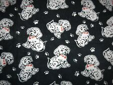 """2 Yards Dalmation Puppy Corduroy Fabric 42"""" wide Kids Clothes Overalls Pants"""