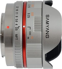Samyang 7 5 Mm Fisheye F 3 5 Manual Focus Lens for Micro 4 3 Silver