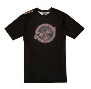 Shoyoroll Rash Guard SS Comp 20.2, M Medium, Black & Pink (Salmon) *Brand New*
