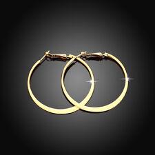 Classic 18K Gold Filled High Polished Big Circle Hoop Earrings