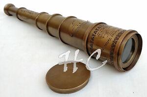 "18"" Brass Maritime Nautical Victorian Marine Old Antique Telescope Spyglass Gift"