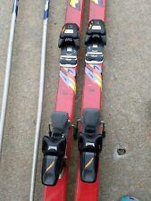 Rossignol 4SV Quartzel downhill snow skis w/bindings & poles 188s- Used 4 times