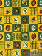 NFL Green Bay Packers Block Licensed Fleece Fabric NL-NFL-42-OT