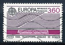 STAMP / TIMBRE FRANCE OBLITERE N° 2532 EUROPA 1988 TRANSPORTS URBAINS DE DEMAIN