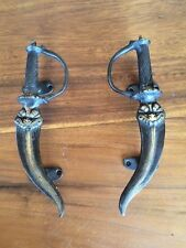 Bronze  Dagger Statue Mystical Door Handles Set