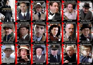 The Untouchables Movie Trading cards Costner De Niro Connery Garcia Scarface