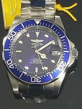 Invicta Pro Diver SS Blue Auto 3 Hand SS Stainless Steel Men's Watch