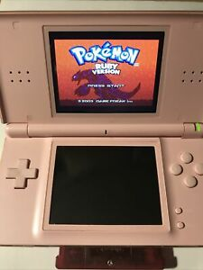 Pokemon Ruby Version NINTENDO DS AUTHENTIC *NEW SAVE BATTERY* damaged cartridge