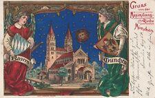 Gruß von der Maximilianskirche München wunderschöne gelaufene Ansichtskarte ,