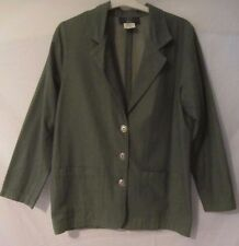 Orvis Green Blazer Jacket  Button Front  - Women's S - CC51