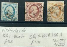 Netherlands Nederland - 1852 Issue Imperf SG1-3