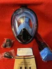 Geartreck Full Face Snorkel Mask, Pan View ,Cam Mount,AntiFog Size L/XL Adults