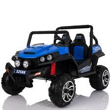 Buggy 4x4 quad électrique enfant 2 places bleu 24 Volts pneus gomme EVA