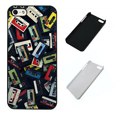 Cassette Mixtapes Old School plastic phone Case Fits iPhone