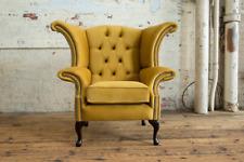Wing Chair From Handmade Mustard Velvet