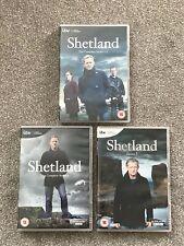 Shetland Series 1-5 DVD Box Sets. Douglas Henshall. 9 discs. VGC.