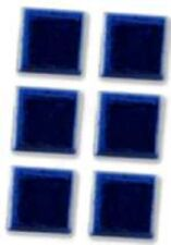 "Boxed Reutter Porzellan Dolls House Miniature 13mm 1/2"" Blue Tile Set of 6"