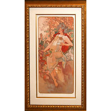 """AUTUMN"" by ALPHONSE MUCHA, Print Signed and Numbered"