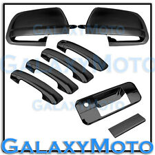 07-13 TOYOTA TUNDRA CREWMAX Black Chrome Mirror+4 Door Handle+Tailgate Cover Kit