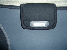 Gray and Black Zippered with velcro closure Laptop Sleeve by Aidata