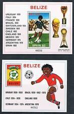 Belize 1981 MONDIALI DI CALCIO 2xMS SG 670 Gomma integra, non linguellato