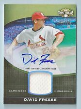 DAVID FREESE 2011 TRIPLE THREADS JERSEY AUTOGRPAH AUTO /25