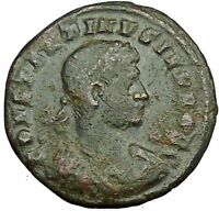 CONSTANTINE II Constantine the Great  son  Roman Coin Military camp gate i34110