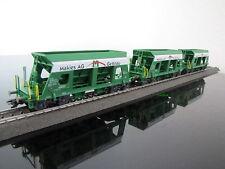 """(31,63€/Stk) Aus Märklin H0 26579: 3 Waggons Schüttgutwagen """"Makies"""", neu / OVP"""