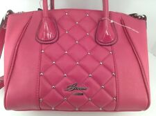 Women's GUESS Magenta Pink SAN JOSE Leather Handbag - $110 MSRP - 20% off